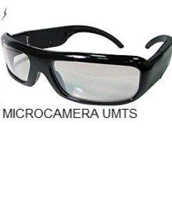 Occhiali spia umts microcamera
