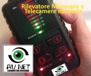 rilevatore di microspie e telecamere nascoste