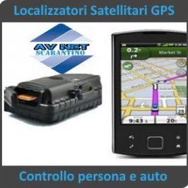 Localizzatori satellitari GPS posizione auto persona