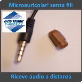 Microauricolari senza fili nascosto audio