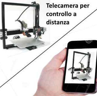 telecamera stampanti 3d