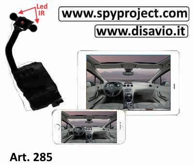 telecamera contro atti vandalici auto