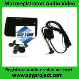 Microregistratori audio video portatili occultati
