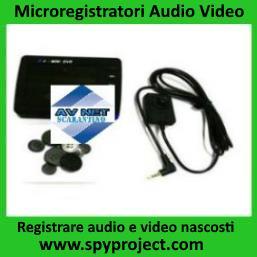 Microregistratori audio video portatili occultati