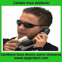 Cambia voce telefonici cellulari telefoni fissi