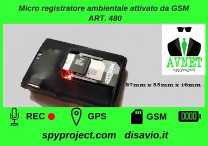 Micro registratore ambientale attivato da GSM