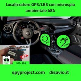 Localizzatore GPS-LBS con microspia ambientale