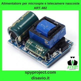 alimentatore microspie telecamere nascoste