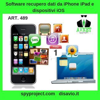 Servizio recupero dati da iPhone iPad e dispositivi iOS