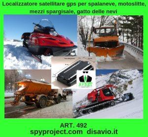 Localizzatore satellitare gps per spalaneve, motoslitte, mezzi spargisale, gatto delle nevi